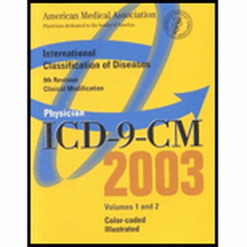 9781579473341: 1&2: Physician Icd-9-Cm 2003: Color-Coded Illustrated (AMA PHYSICIAN ICD-9-CM)