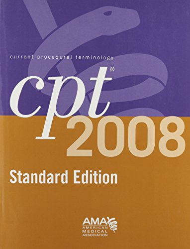 9781579479367: CPT 2008 Standard Edition: Current Procedural Terminology (CPT / Current Procedural Terminology (Standard Edition))