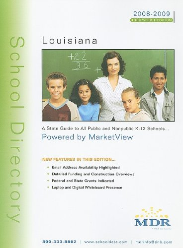 9781579536114: MDR's School Directory Louisiana: A State Guide to All Public and Nonpublic K-12 Schools