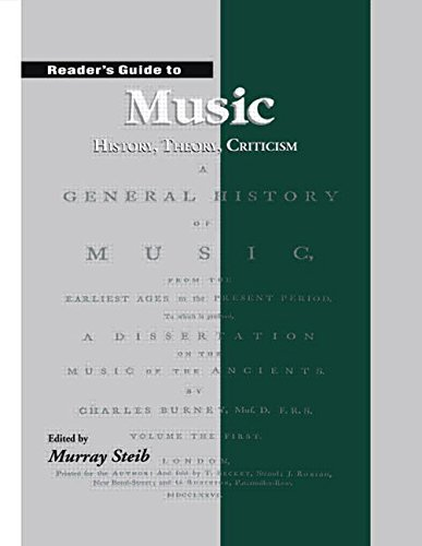 9781579581435: Reader's Guide to Music: History, Theory and Criticism: History, Theory, Criticism