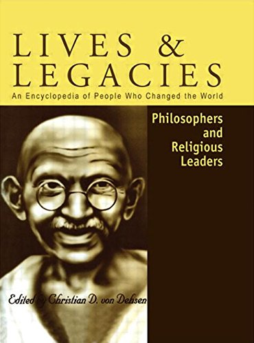 9781579581824: Philosophers and Religious Leaders (Lives & Legacies)