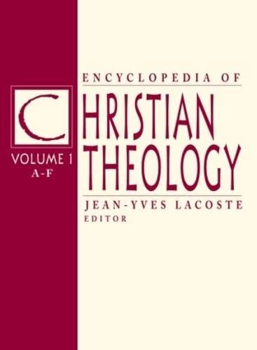 Encyclopedia of Christian Theology (Hardback)
