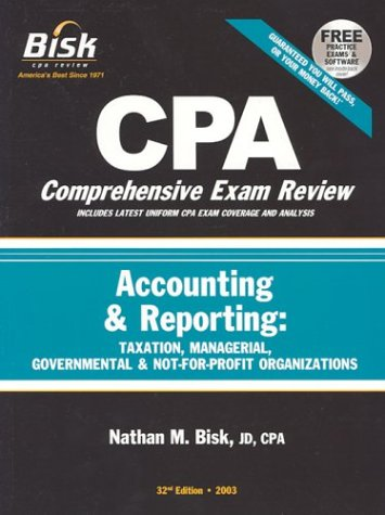 9781579612337: CPA Comprehensive Exam Review, 2003: Accounting & Reporting (32nd Edition)