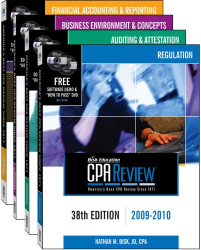 9781579616779: Bisk CPA Review: 4-Volume Set - 38th Edition 2009-2010 (Comprehensive CPA Exam Review 4-Volume Set)