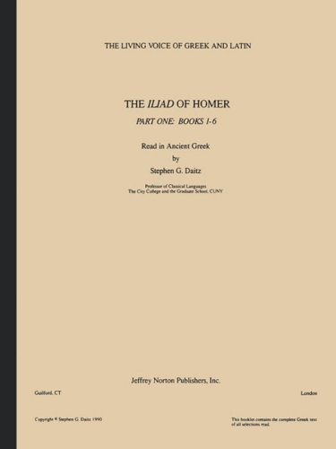 9781579705350: The Iliad of Homer, Part One: Books 1-6 (Ancient Greek Edition)
