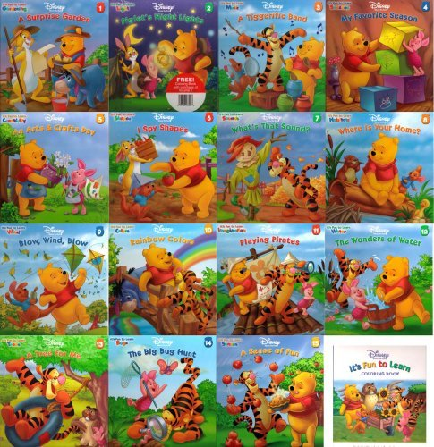 9781579731366: Disney Winnie the Pooh It's Fun to Learn Book Series ~ 15 Books