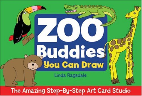 9781579909031: The Amazing Step-By-Step Art Card Studio: Zoo Buddies You Can Draw