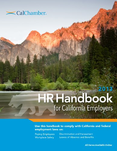 9781579974015: 2013 HR Handbook for California Employers