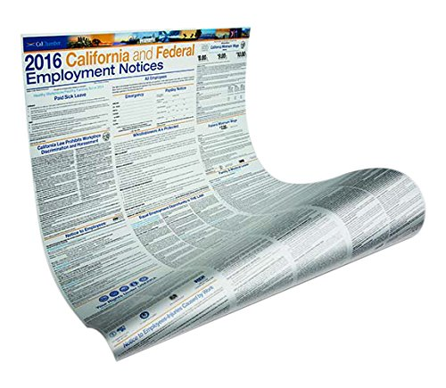 9781579975333: 2016 California and Federal Employment Notices Poster - Laminated (English)