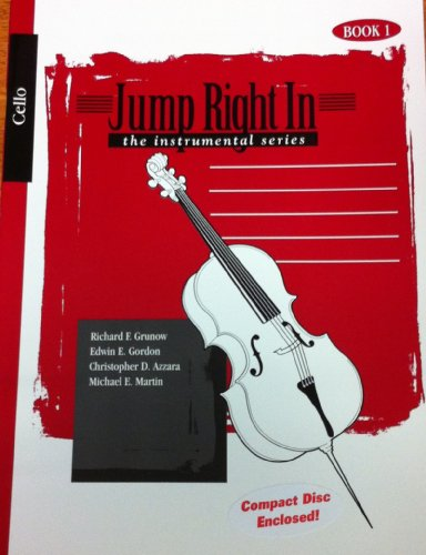 9781579994549: Jump Right In, Cello, the instrumental series, CD + Book 1