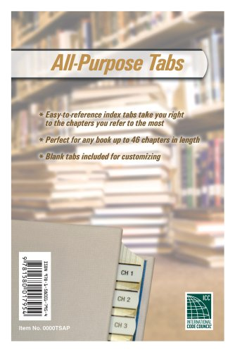 9781580017954: All Purpose Tabs (International Code Council Series)