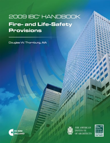 9781580018784: 2009 International Building Code Handbook: Fire- and Life-Safety Provisions with CD (International Code Council Series)