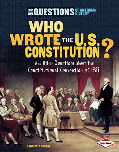 9781580136693: Who Wrote the U.s. Constitution? (Six Questions of American History)