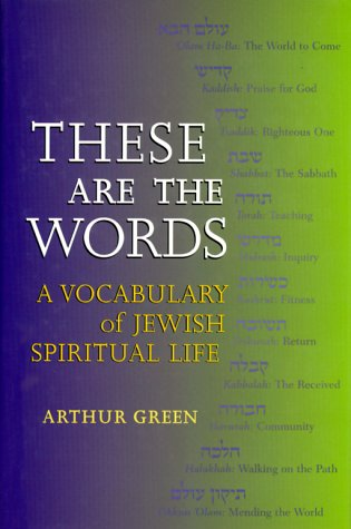 9781580230247: These Are the Words: A Vocabulary of Jewish Spiritual Life