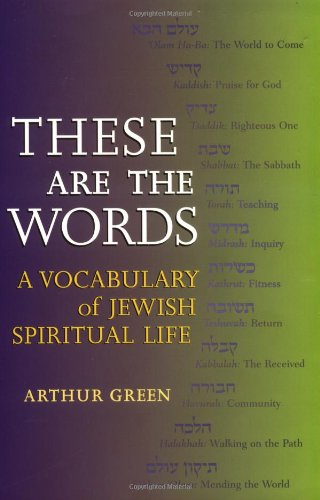 9781580231077: These Are the Words: A Vocabulary of Jewish Spiritual Life