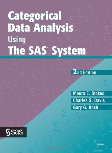 9781580257107: Categorical Data Analysis Using the SAS System