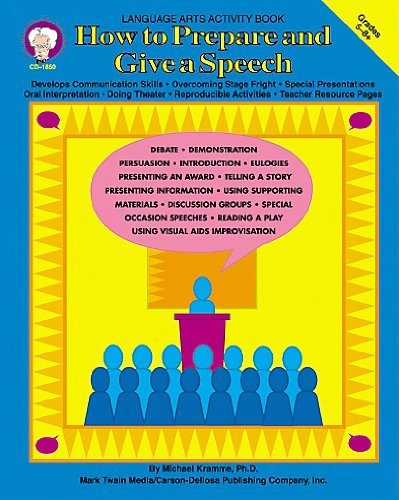 9781580370400: How to Prepare and Give a Speech, Grades 5 - 8