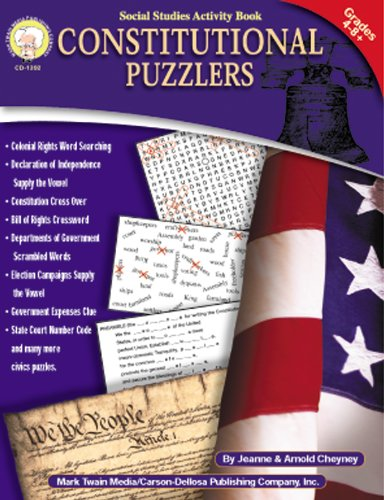 Constitutional Puzzlers, Grades 4 - 8: Cheyney, Jeanne; Cheyney,