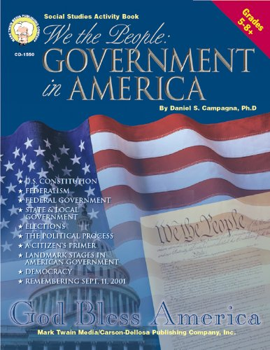 9781580372046: We the People, Grades 5-8: Government in America