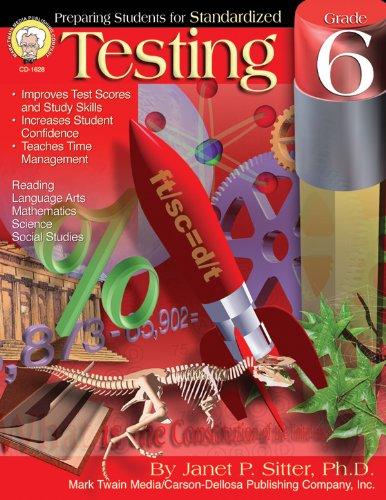 9781580372688: Preparing Students for Standardized Testing, Grade 6