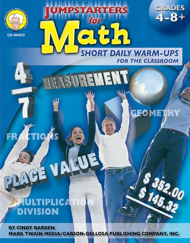 9781580372978: Jumpstarters for Math, Grades 4-12
