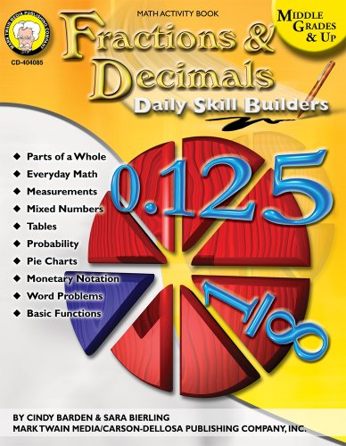 9781580374446: Daily Skill Builders: Fractions & Decimals, Middle Grades & Up