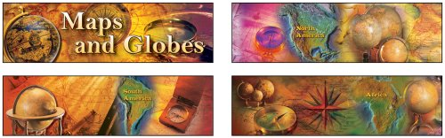 9781580375177: Maps and Globes Mini Bulletin Board Set