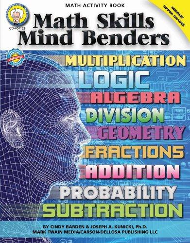 9781580375573: Math Skills Mind Benders, Grades 6 - 12