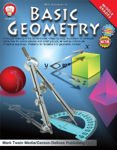 9781580375733: Basic Geometry Math Activity Book, Middle Grades