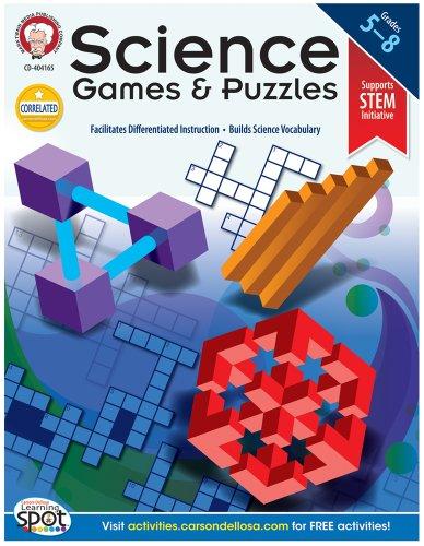 Science Games and Puzzles, Grades 5 - 8: Schyrlet Cameron