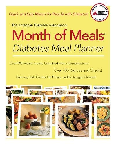 9781580403368: The American Diabetes Association Month of Meals Diabetes Meal Planner