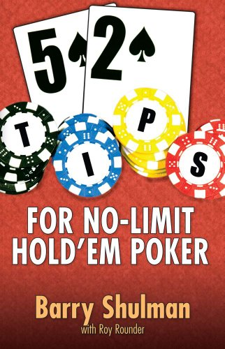 52 Tips for No-Limit Hold'em Poker: Shulman, Barry