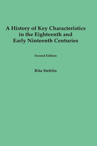9781580460415: A History of Key Characteristics in the 18th and Early 19th Centuries: Second Edition