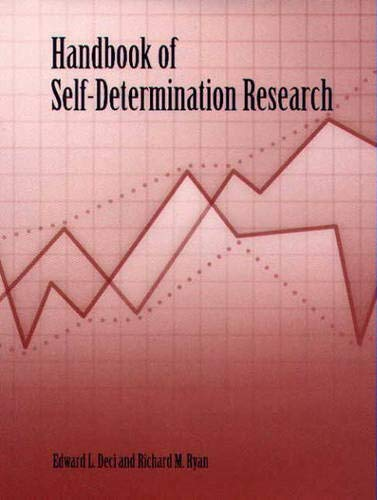 9781580461085: Handbook of Self-Determination Research: Theoretical and Applied Issues