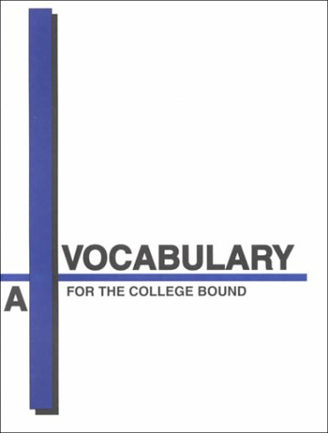 9781580492607: Vocabulary for the College Bound: Book-A