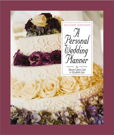 A Personal Wedding Planner: Cook, Sharon Capen