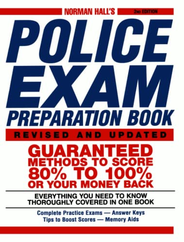 9781580628426: Norman Hall's Police Exam Preparation Book