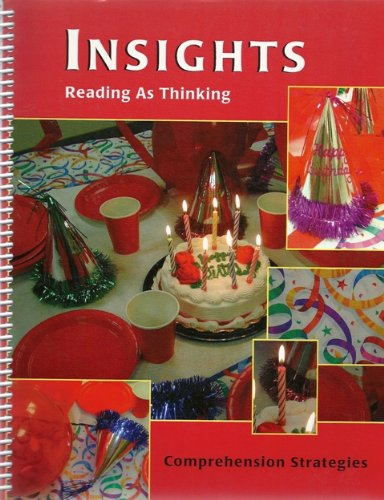 9781580897532: Insights Reading As Thinking Comprehension Strategies Teacher Manual Red Level
