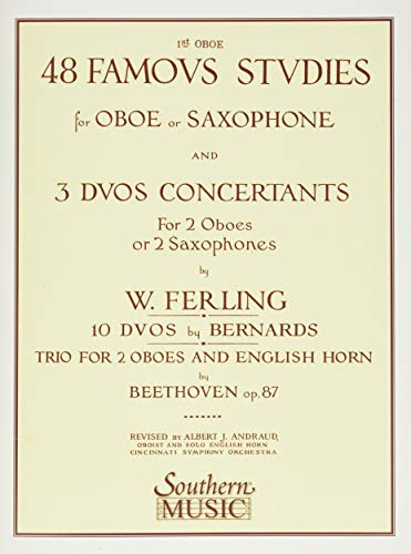 9781581060515: 48 Famous Studies, (1st and 3rd Part): Oboe
