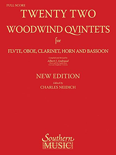9781581060591: Twenty-Two Woodwind Quintets: for Flute, Oboe, Clarinet, Horn and Bassoon (The New York Woodwind Quintet Library Series)