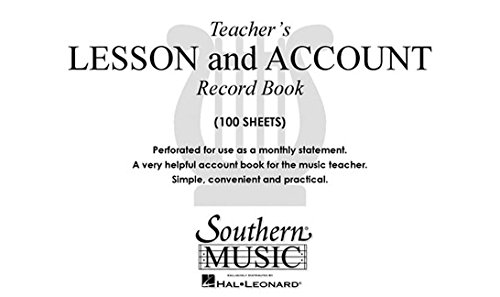 9781581060751: Teacher's Lesson and Account Record Book