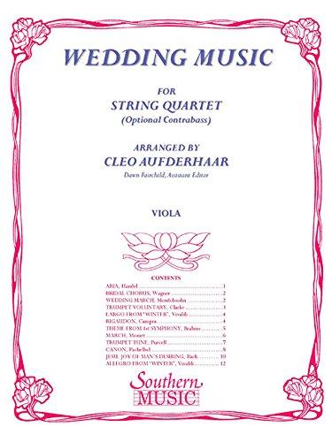 Wedding Music: Viola Part: Cleo Aufderhaar