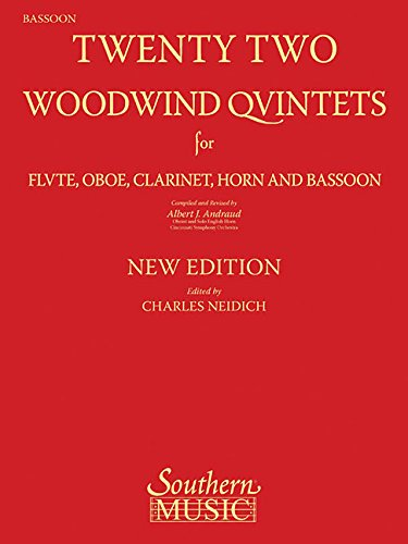9781581061987: 22 Woodwind Quintets: Woodwind Quintet