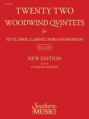 9781581061994: 22 Woodwind Quintets - New Edition: Flute Part