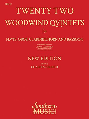 9781581062007: 22 Woodwind Quintets - New Edition: Oboe Part