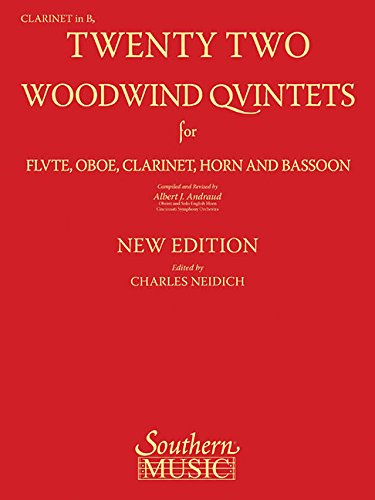 9781581062014: 22 Woodwind Quintets - New Edition: Clarinet Part