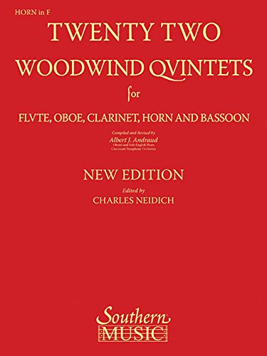 9781581062021: 22 Woodwind Quintets: Woodwind Quintet