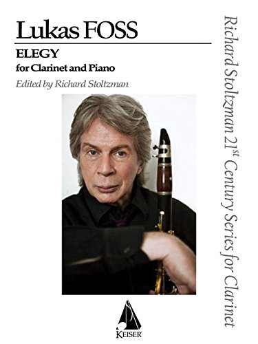 9781581062168: Elegy for Clarinet and Orchestra: Clarinet and Piano Reduction
