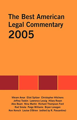 9781581124743: The Best American Legal Commentary