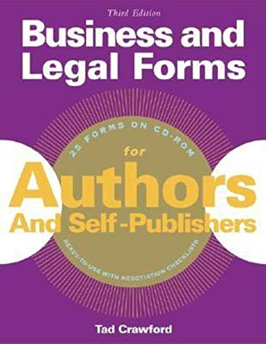 9781581153958: Business and Legal Forms for Authors and Self Publishers (Business and Legal Forms Series)